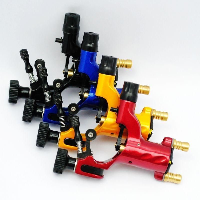 Pro 4pcs Mixed Red Yellow Green Dragonfly Rotary Motor Tattoo Machine For Liner Shader