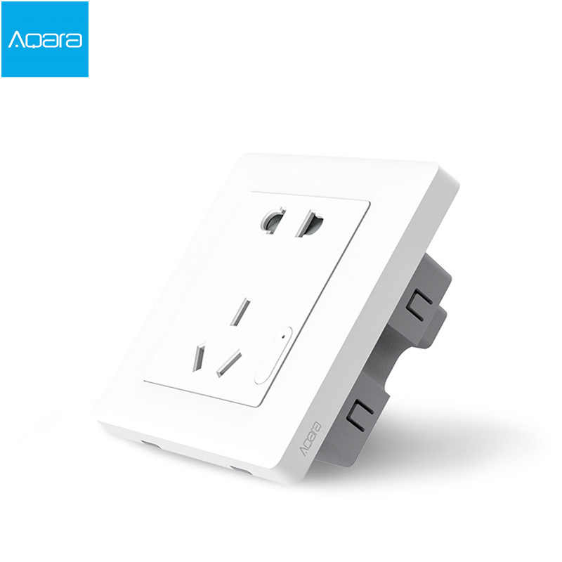 2017 Оригинальный Xiaomi умный дом Aqara умный светильник ZiGBee настенный выключатель розетка через приложение для смартфона беспроводной пульт дистанционного управления