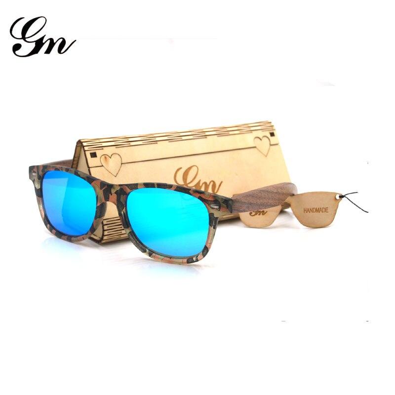 G M Bamboo Wood Applique Sunglasses, Walnut Glasses