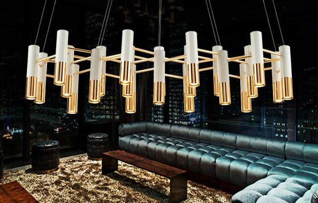 Verlichting Woonkamer Hanglamp : Iron postmodern eenvoudige hanglamp zwart wit goud art deco licht