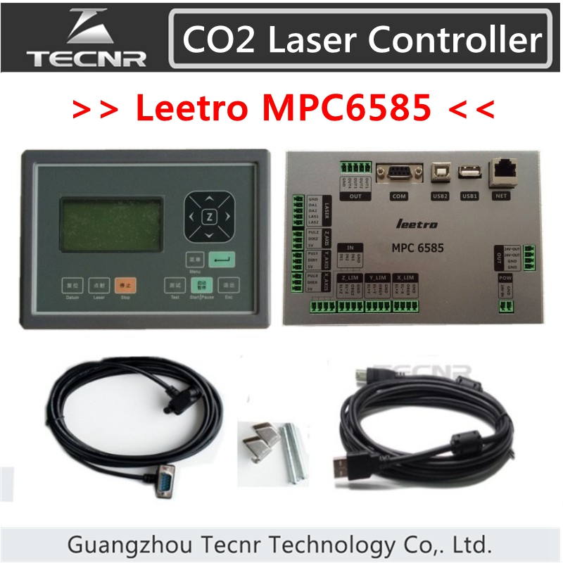 Leetro MPC 6585 CO2 laser controller for laser cutting machine leetro co2 laser controller for laser machines mpc6525 laser controller mainboard panel dongle cable 2