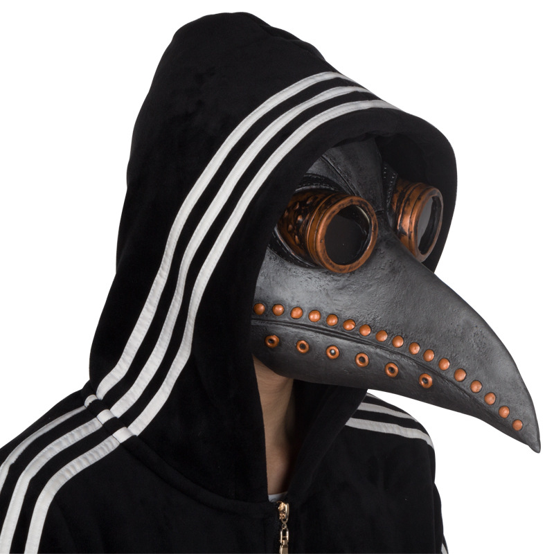 Plague Doctor Mask Cosplay Brown Steampunk Doctor Plague Bird Beak Halloween Steam Punk Gohic Breath Crow Corbie Mask