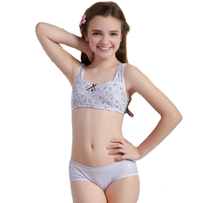 Aliexpress.com : Buy WoFee puberty girl bra and pants sets yong ...