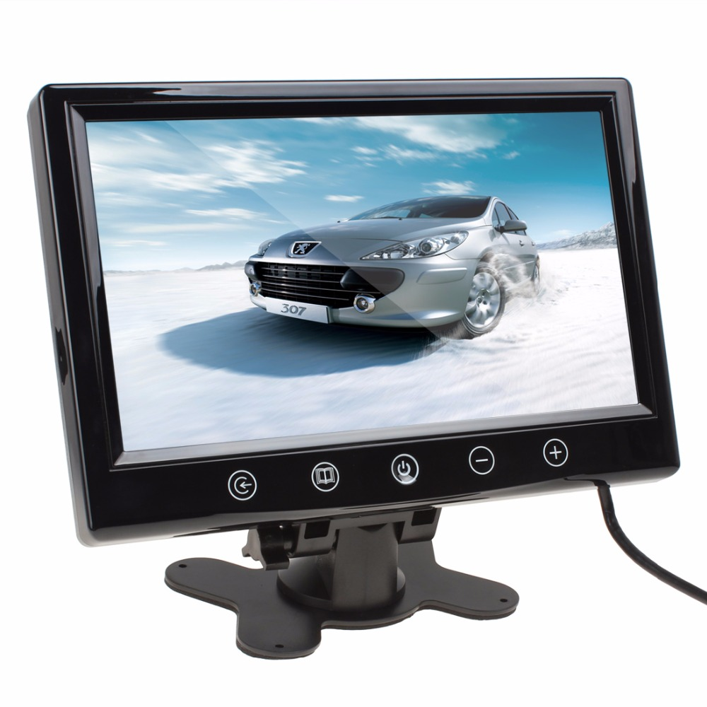 9 Inch Remote Control TFT LCD Car Monitor Color Screen Car Rear View Monitor With 2 Video Input diykit 9 inch tft lcd car monitor display car reverse rear view monitor screen with bnc av input remote control dvd vcr