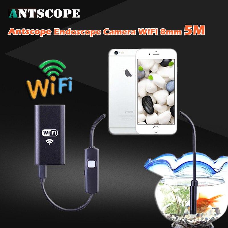 HD720P WIFI Endoscope Camera 8mm Lens 5M Snake Pipe Inspection Iphone Waterproof Video Mac Windows Computer Endoscope Camera 35