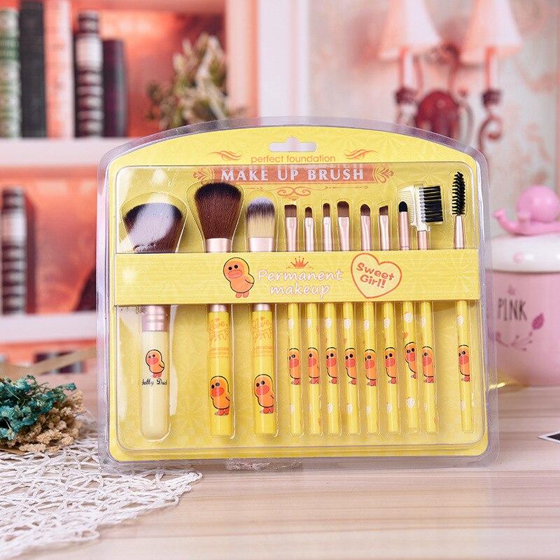 delineador pestana lábio compõem escova cosméticos beleza kit ferramenta quente