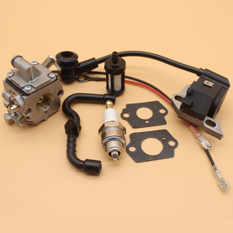 Vergaser Carburetor Zündspuhle Zündkerze für STIHL 017 018 MS170 MS180