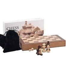 Изысканный деревянный складной большой Шахматный набор из твердой