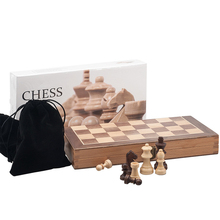 Chess-Set Backgammon-Board Wooden Large Games Folding High-Grade Gift Refined Entertainment