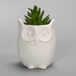 Image 5 - YeFine творческий керамический цветочный горшок, горшок для бонсай, садовые горшки, сад, бонсай, стол цветочный горшок для суккулентных растений милый горшочки с животным