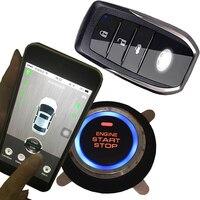 Смартфон приложение gps GSM Автомобильная охранной сигнализации системы Автозапуск двигатели для автомобиля выключатель зажигания останови