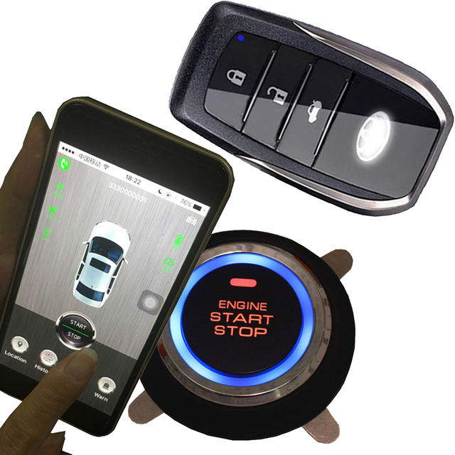 smart phone app gps gsm car security alarm system keyless entry