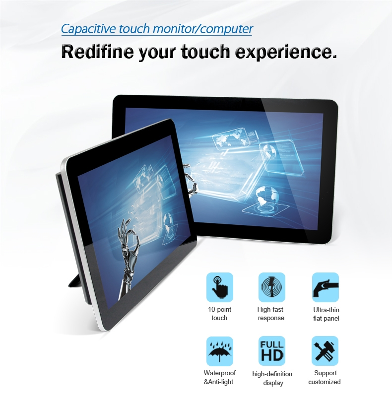 15.6 18.5 21.5 pouces tablette écran tactile, écran tactile, ordinateur tout-en-un