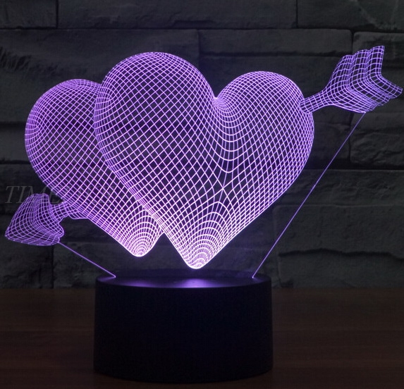Marvelous 3D Illusion Led Night Lights Large Heart Shape Acrylic Table Lamp Mood  Light For Valentineu0027s Day Home Design Ideas