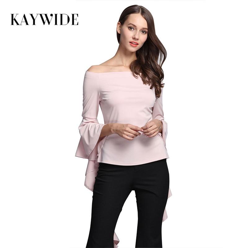 Kaywide sexy slash cuello blusa de las mujeres camisas blusas femininas  otoño h