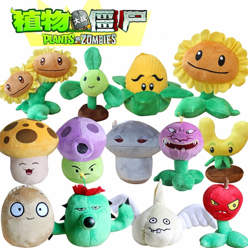 13pcs lot 13 20cm Plants vs Zombies Plants Soft Stuffed Plush Toys Games PVZ Plush Doll