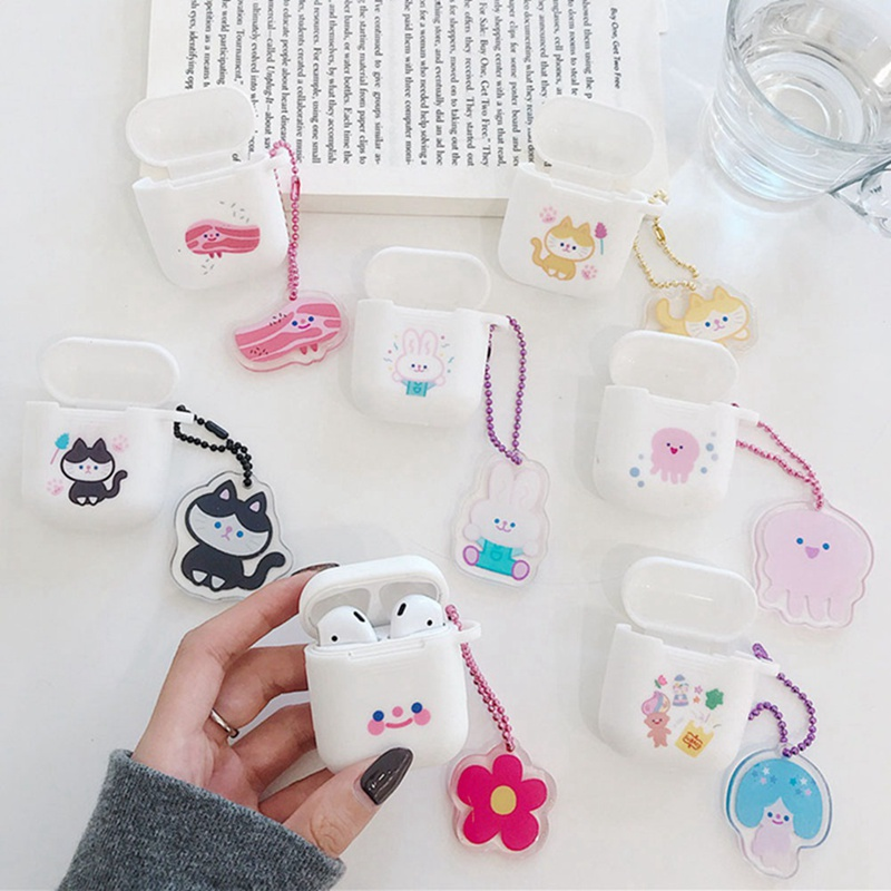 Cartoon Wireless Bluetooth Earphone Case for Apple AirPods Silicone Charging Headphones Cases for Airpods Protective Cover