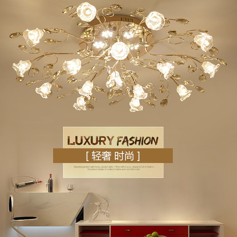 Crystal Camp Living Room led Ceiling Light Modern Ceiling Lamp for Bedroom Dining Room Creative Round Crystal Lamps Bedroom led modern ceiling light creative round white living room lamp 110v 220v bedroom lighting stylish apartments ceiling lamps