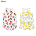 Summer Lemon & Strawberry Baby Suit Stylish Infant Baby Girl & Boy Clothes T Shirt + Pants Outfit Bebek Giyim YM17TZ