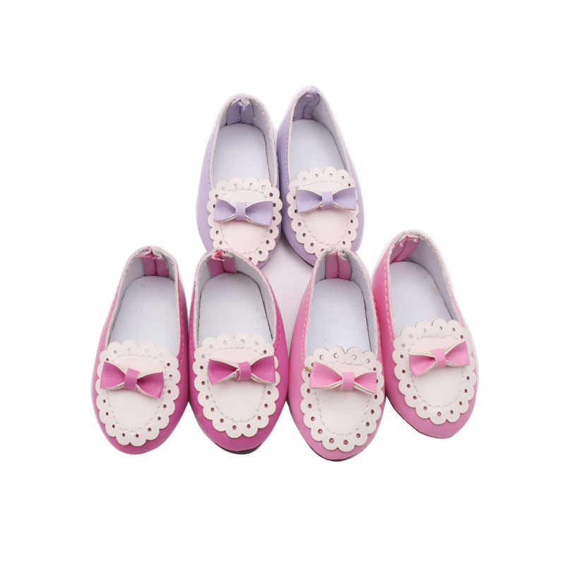 1Pair Handmade Fashion Black PU Shoes Clothes For 16 inch Doll Toy Shoes Gi  NEW