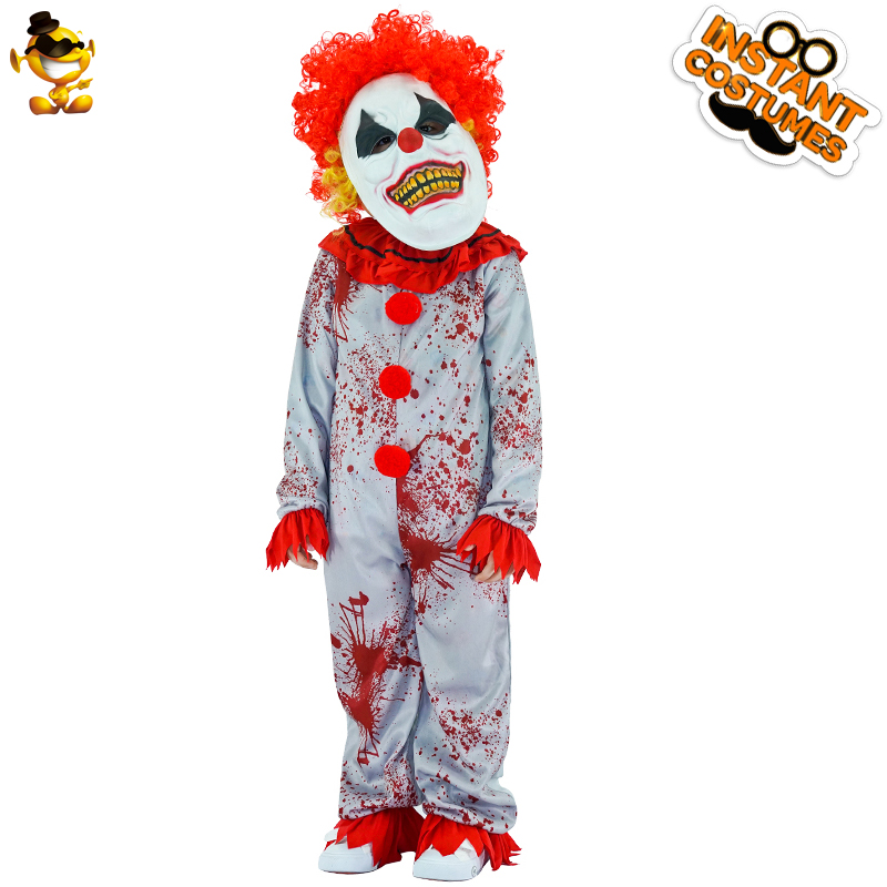 Halloween Original Cosplay Costume Killer Clown Costume Kids Fashion Horror Clown Plays Costume For Halloween Carnival Costume