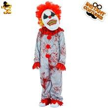 Halloween Originele Cosplay Kostuum Bloody Killer Kostuum Kids Fashion Horror Clown Kostuum Voor Halloween Carnaval Kostuum