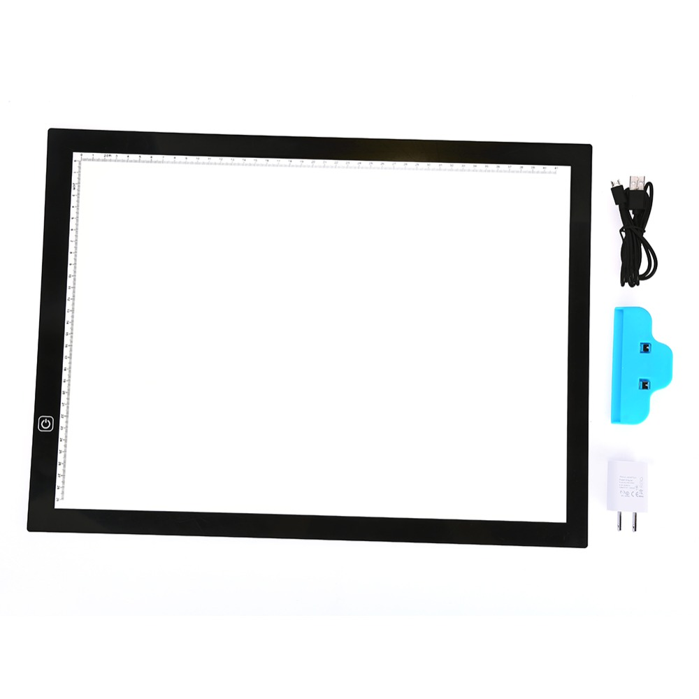 USB A3 LED Light Box Graphics Tablet Touchpad Animation Pencil Sketch Document Clip Practice Paper Tools