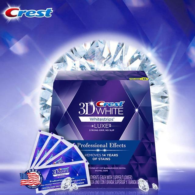 Crest 3D blanco blanqueador lujo efecto profesional 20 tratamientos 1 caja higiene bucal