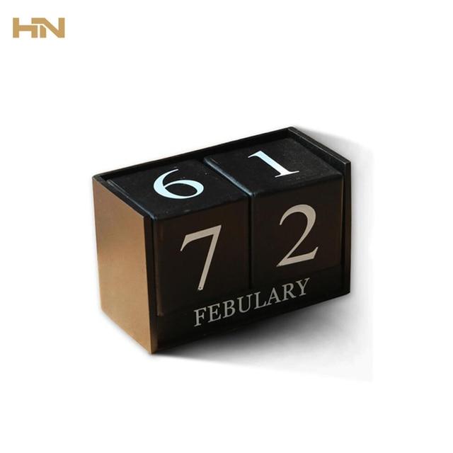 TANGHOME Calendario Di Legno Tavolo FAI DA TE Accessori Per La Casa  Arredamento Figurine Articoli Artigianali
