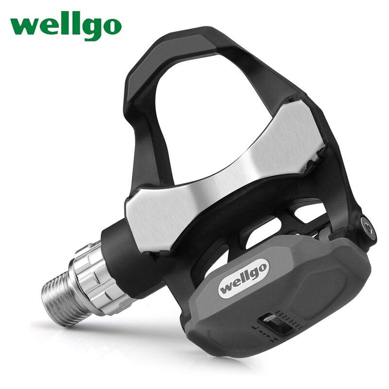 Wellgo R168 252g pédales de vélo de route en carbone Ultra-léger avec 3 roulements look keo Compatible avec deux paires de crampons
