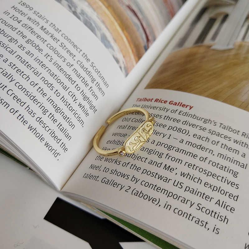 Peri'sBox จริง 925 เงินสเตอร์ลิงสัตว์ STACK แหวนผู้หญิงง่ายเริ่มต้น Layered แหวน Minimalist แหวนเปิดปรับได้