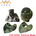 militay army tactical Wholesale Super Half Face Metal Net Mesh Protective Mask Outdoor Paintball Airsoft live CS 10-color mask
