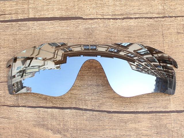 Chrome Espelho De Prata Polarizado Lentes de Substituição Para O Caminho RadarLock Óculos De Sol Quadro 100% UVA & Uvb