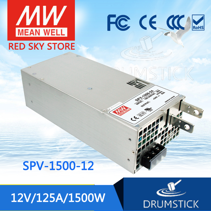 MEAN WELL SPV-1500-12 12V 125A meanwell SPV-1500 12V 1500W Single Output Power Supply [Real8] [mean well] original se 1500 12 12v 125a meanwell se 1500 12v 1500w single output power supply