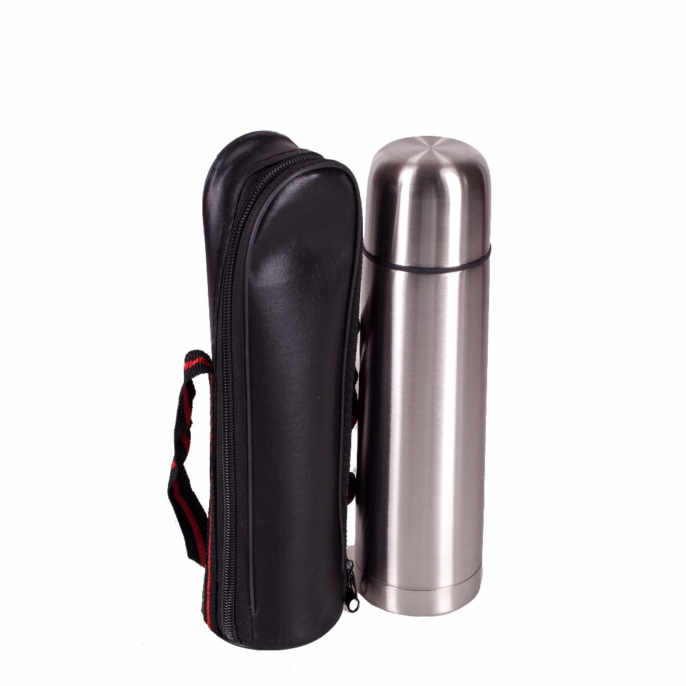 METAL THERMOS VETTA BULLET SILVER 0,50L , heated cigarette lighter hunting, fishing bait house kitchen knife pan pot 841-026
