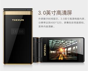 Image 2 - Дешевый телефон раскладушка, телефон раскладушка TKEXUN M2, сенсорный экран 3,0 дюйма, четырехдиапазонный, GSM, женский телефон, роскошный, быстрый набор, русская клавиатура, сотовый телефон