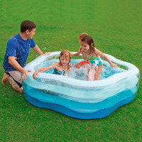 Ultralarge 185*180*53CM Swimming Pool Inflatable Kids Pool Piscine Piscine Gonflable Basen Foldable Tub With Pump