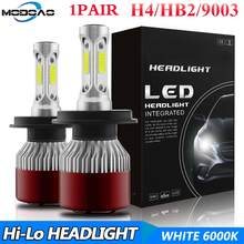 6000K H4 LED Auto S2 Car Headlight Bulbs 144W 14400LM 4-Side Kit Low Beam Bulbs High Power 360 degree(China)