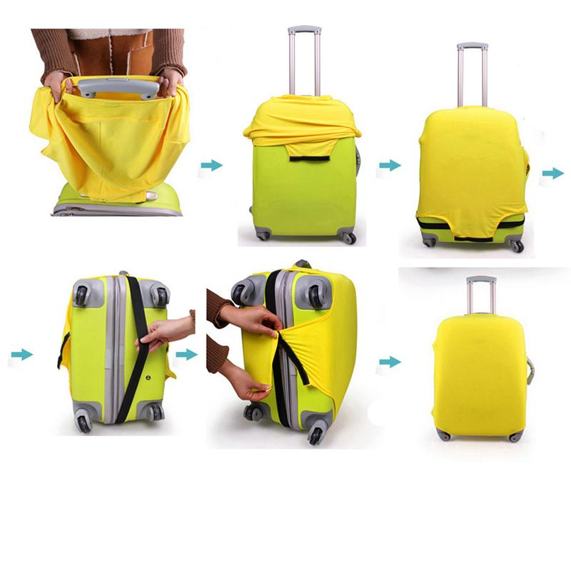 Elastic Travel Luggage Cover Hot Summer Suitcase Protector for 18-20 Inch Luggage