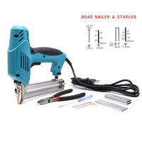 2 In 1 Electric Nails Stapler Gun Framing Tacker Electric Staple Gun With 600Pcs Staples Household Tool Set Electric Power Tools