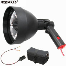 $20 off!!! Powerful USA Imported CREE 12V 25W LED 2500LM 150MM Hunting Lamp Handheld Spotlight With Female Plug 7Ah Battery Bag(China)