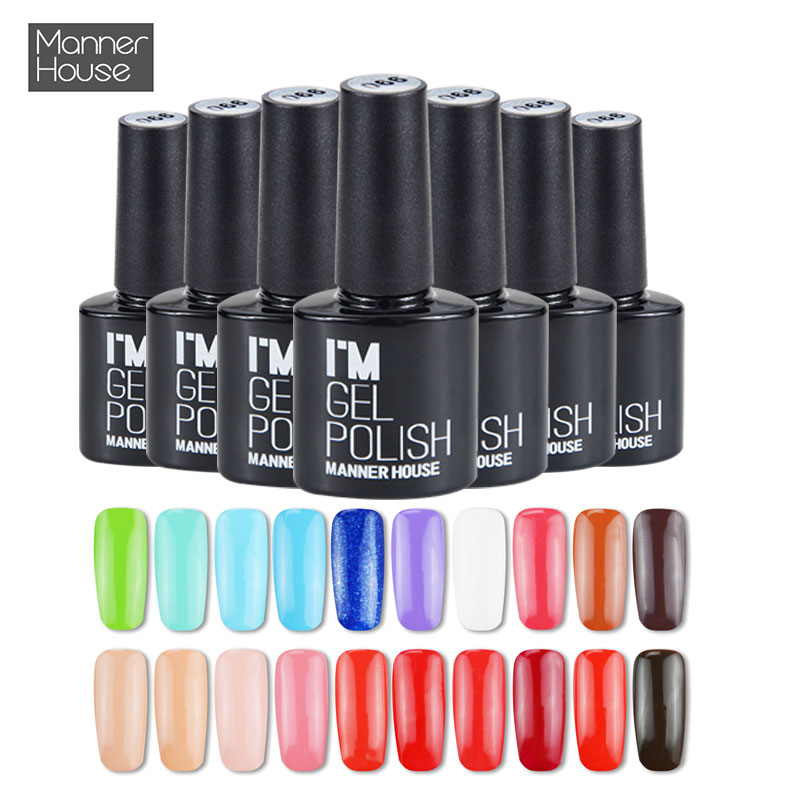 MANNER HOUSE Hot Sale 96 Färger Nagellack Polsk Soak Off Led Lampa Nagellack Långvarig Nagellack Gel Nagellack # 30- # 58