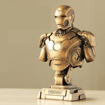 OGRM Crafts The Avenger Iron Man Mk43 Bust Statue Home Decor 1:4 Figure Gear of War 4 Ironman Machine Model Holiday Gift