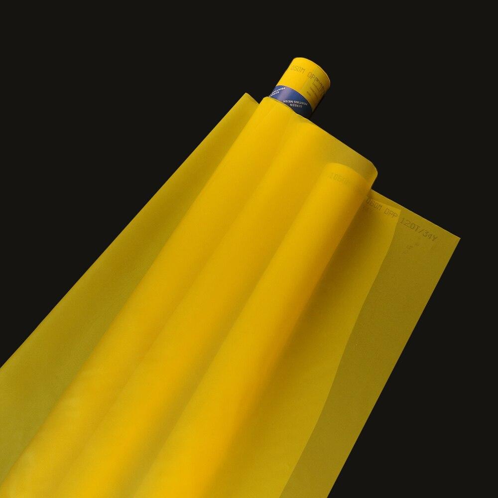 120 T 34UM żółty 165 cm 20 metrów sitodruk poliestrowy siatka w Zasłony panelowe od Dom i ogród na  Grupa 1