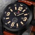 NEW Designer Homens Relógios De Pulso De Couro Relógio de Pulso Relógio Naviforce Mens Relógio Do Esporte Relógio de Quartzo Top Marca de Luxo Com Calendário Reloj