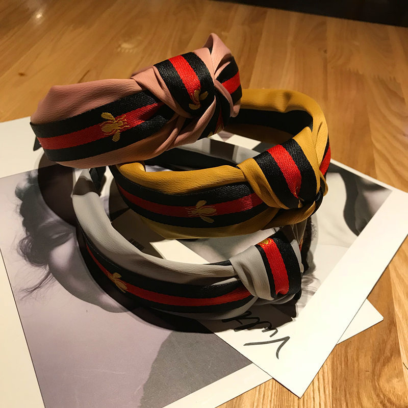 Korea Style Hair Accessories Tartan Design Headband Girl Hair Bands