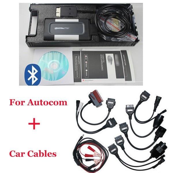 2017 Качество для autocom CDP Профессиональное для автомобили и грузовики(компактный диагностический соучастник) OKI чип с бесплатная доставка,полный комплект автомобиль кабель