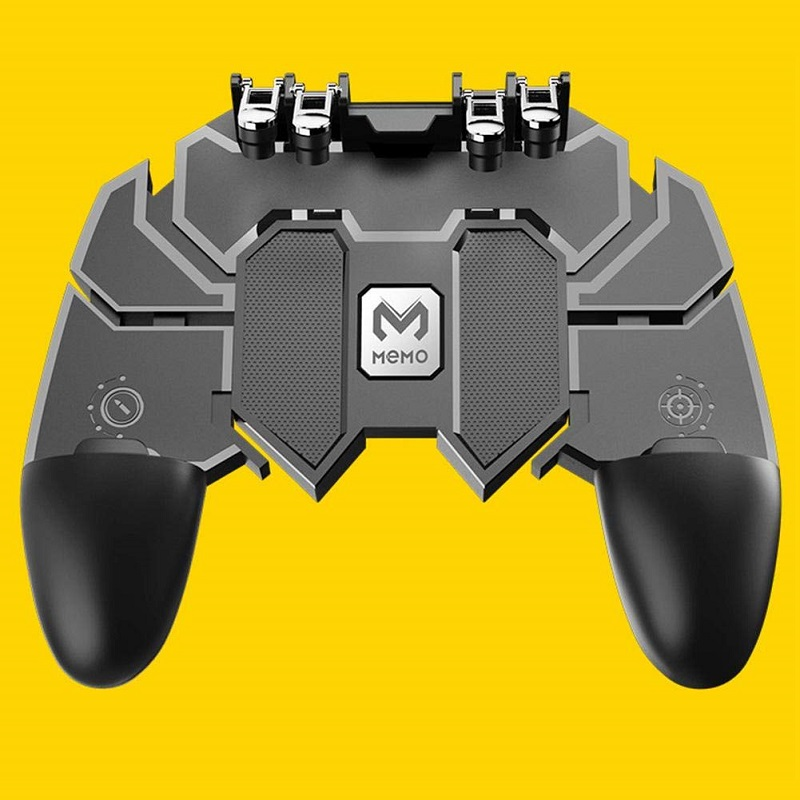 Mobile PUBG Controller Turnover Button Gamepad for PUBG IOS Android Six 6 Finger Operating Gamepad Peripherals PUBG Controller(China)