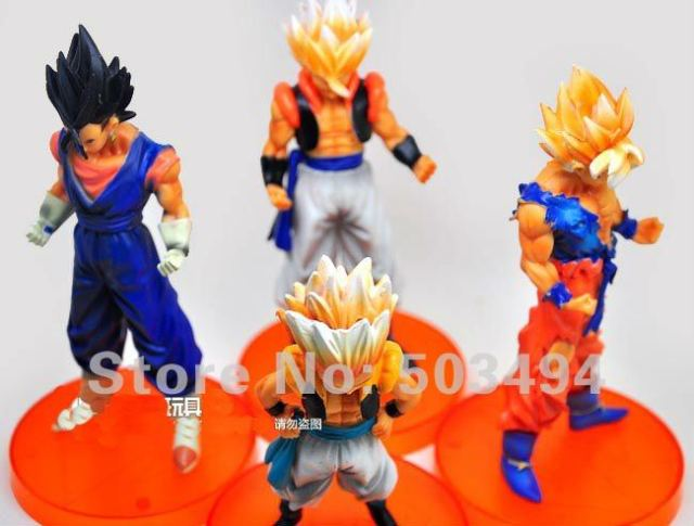 "Free shipping Anime Dragon Ball Z 5""Songukou Gogeta Gotenks Action Figure toy ( 4 pcs/set )"