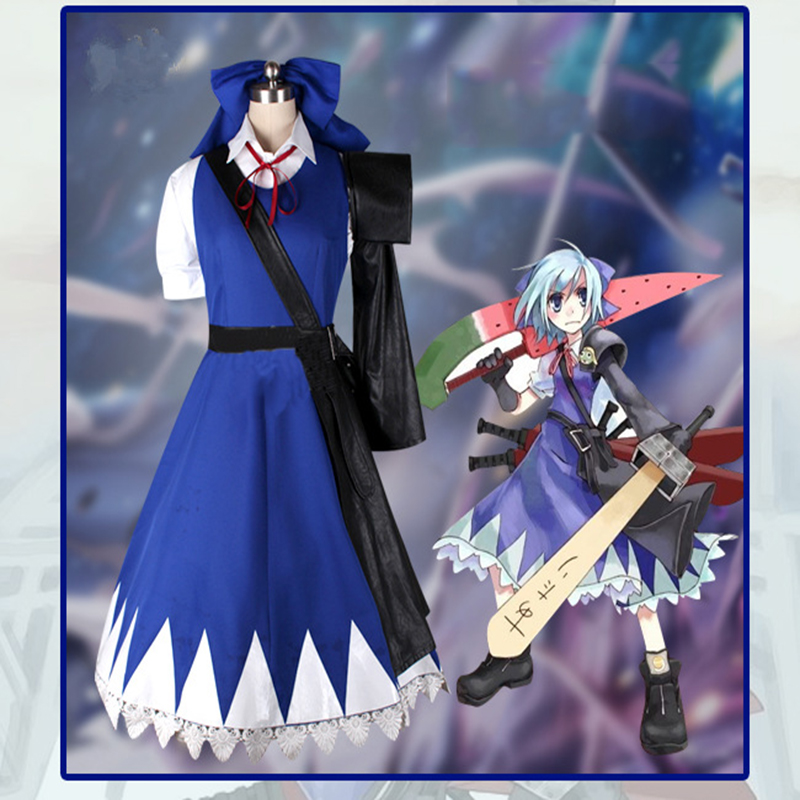 Anime Toho Project Cosplay Costumes Cirno Cosplay Costume Halloween Carnival Party Women Game TouHou Project Cosplay Costume image